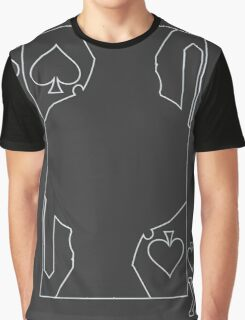 King of Spades - Outline Graphic T-Shirt