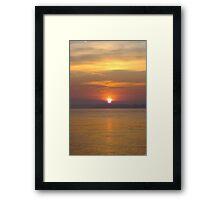 Sun Setting over the River Orwell Framed Print
