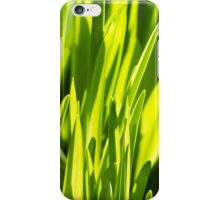 Rich spring green grass, suitable as a background image iPhone Case/Skin