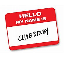 Clive Bixby T-Shirt!! Photographic Print