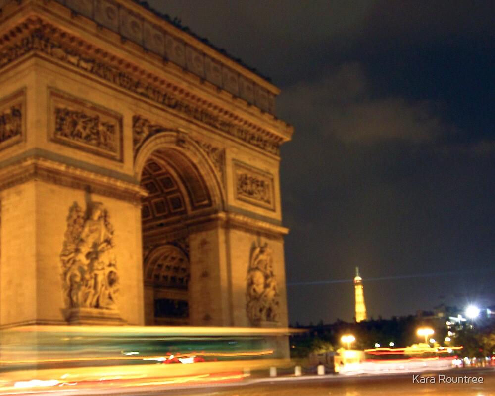 Circling the Arc de Triomphe by Kara Rountree
