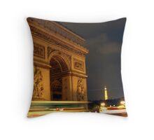 Circling the Arc de Triomphe Throw Pillow