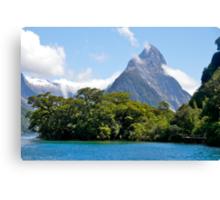 Mitre Peak#1, Milford Sound, South Island, New Zealand. Canvas Print