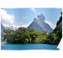 Mitre Peak#1, Milford Sound, South Island, New Zealand. Poster