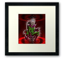 Prof. Mad Brainer Solo Framed Print