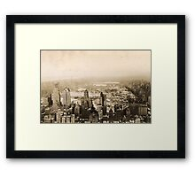 Snowy Central Park New York City Photograph Framed Print