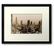Vintage New York City Skyline Photograph (1935)  Framed Print
