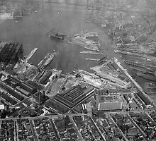U.S. Naval Yard in Brooklyn NY Photograph (1932) by BravuraMedia