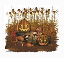 October Puppy .. a halloween tale Baby Tee