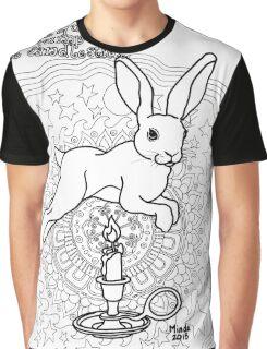 Bunny Nursery Rhyme Series-Jack be Nimble b&w Graphic T-Shirt