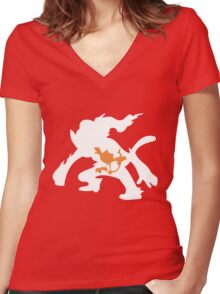 Chimchar Inception Women's Fitted V-Neck T-Shirt