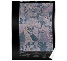 USGS Topo Map Washington State WA Thera 20110406 TM Inverted Poster