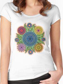 Mandala flowers Women's Fitted Scoop T-Shirt