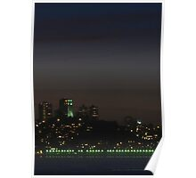 Coit Tower At Night Poster