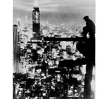 New Yorker Sitting On A Ledge Photographic Print
