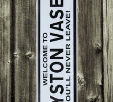 Royston Vasey sign Sticker
