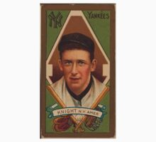Benjamin K Edwards Collection Jack Knight New York Yankees baseball card portrait One Piece - Short Sleeve