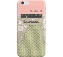 Vintage Transistor Radio - Shell PInk iPhone Case/Skin