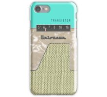 Vintage Transistor Radio - Seafoam Green iPhone Case/Skin