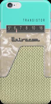 Vintage Transistor Radio - Seafoam Green by ubiquitoid
