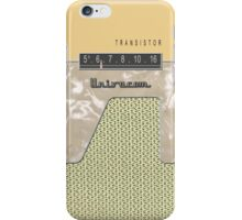 Vintage Transistor Radio - Creme iPhone Case/Skin