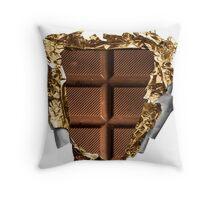 Chocolate Bar Sixpack Throw Pillow