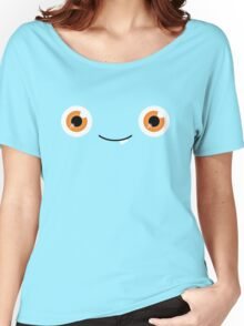 Happy Monster Googly Orange Eyes Women's Relaxed Fit T-Shirt