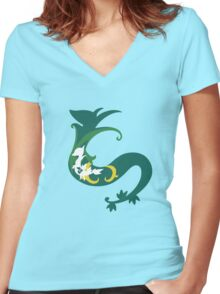 Snivy Inception Women's Fitted V-Neck T-Shirt