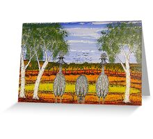 """""""Mum Dad and the little One""""  Australia Painting; For Sale Greeting Card"""