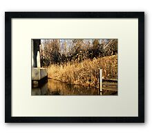 At the End of the Bridge Framed Print