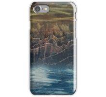 Evening sky over mountain lake iPhone Case/Skin