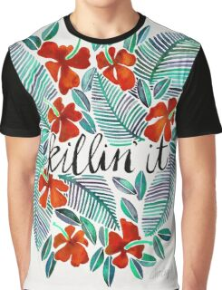 Killin' It – Tropical Red & Green Graphic T-Shirt