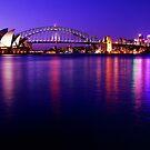 Sydney Opera House & Harbour Bridge Twilight by Simon Le