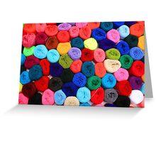 Colorful Balls of Yarn Greeting Card