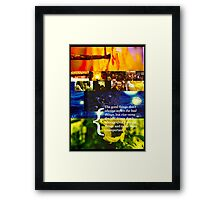 Good and Bad Framed Print