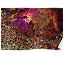 Orion Over Sedona Poster