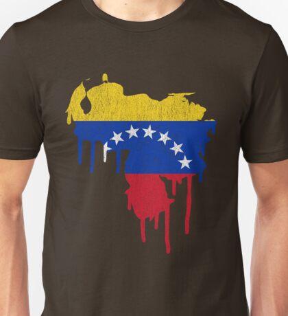 Venezuela Paint Drip Unisex T-Shirt