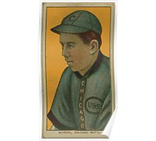 Benjamin K Edwards Collection Pat Moran Chicago Cubs baseball card portrait Poster
