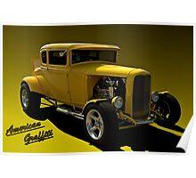 """1931 Ford """"American Graffiti"""" Hot Rod Coupe Replica Poster"""