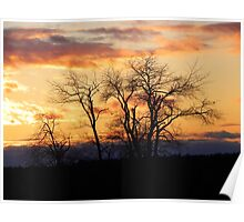 Sunset on the Hill Poster