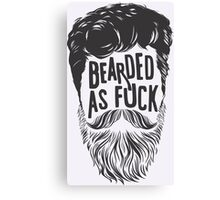BEARDS ARE AWESOME Canvas Print