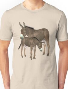 Donkey Mare and Foal  Unisex T-Shirt