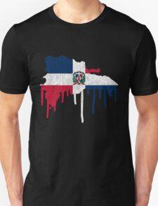 Dominican Republic Paint Drip T-Shirt