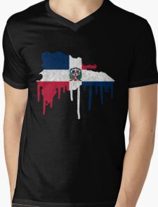 Dominican Republic Paint Drip T-Shirt