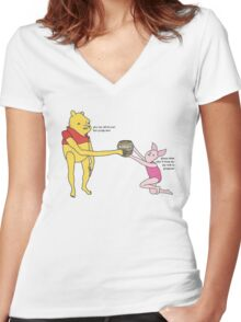 Bee syrup Women's Fitted V-Neck T-Shirt