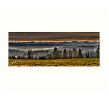 Lord's Hill and Cascades Art Print