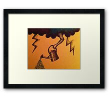 Watering Can in the Sky Framed Print