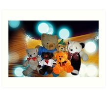 Disco Bears Art Print
