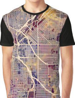 Denver Colorado Street Map Graphic T-Shirt