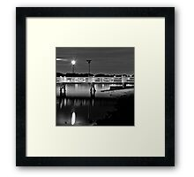 The Picketed Jetty Framed Print